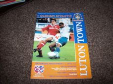 Luton Town v Oldham Athletic, 1995/96